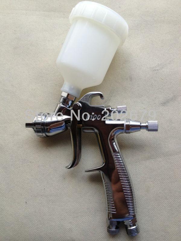 R-100 распылитель высокого качества LVLP мини-пистолет-распылитель гравитационная нержавеющая сталь 150 мл чашка авто краска для лица 1,0 мм сопло