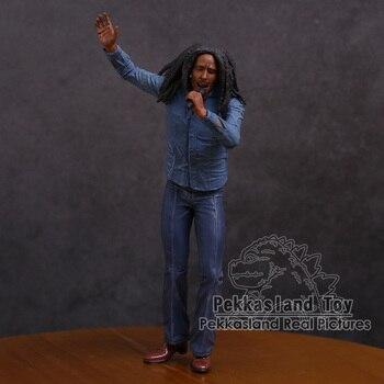 Боб Марли музыка легенды Ямайка певица и микрофон ПВХ фигурку Коллекционная модель игрушки 18 см