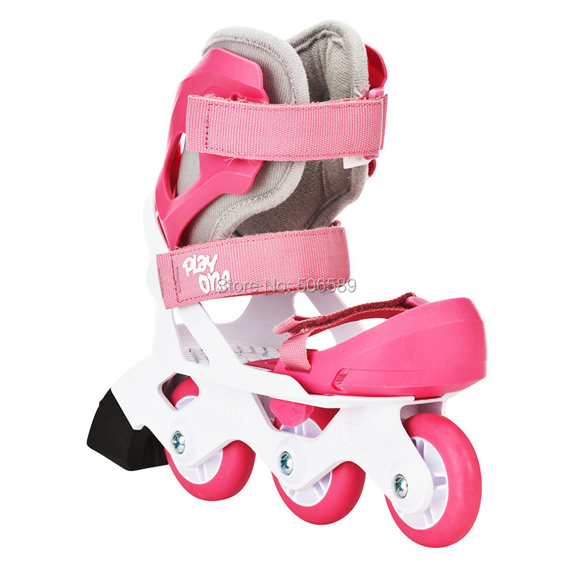 Free Shipping Roller Skates Children 3-year Older Size Adjustable Pink & Blue