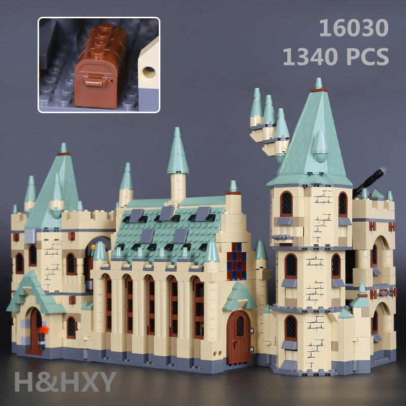 IN STOCK H HXY 16030 1340Pcs Creative Movies Series The Hogwarts castle Set LEPIN Model Building