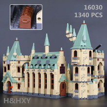 IN STOCK H&HXY 16030 1340Pcs Creative Movies Series The Hogwarts castle Set LEPIN Model Building Block Children Toy Gift 4842
