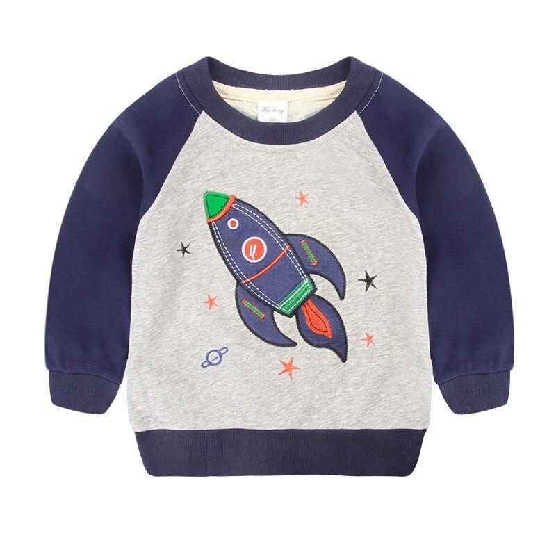 V-TREE 2018 Весенние футболки для мальчиков мультфильм космический ребенка футболка для  ...