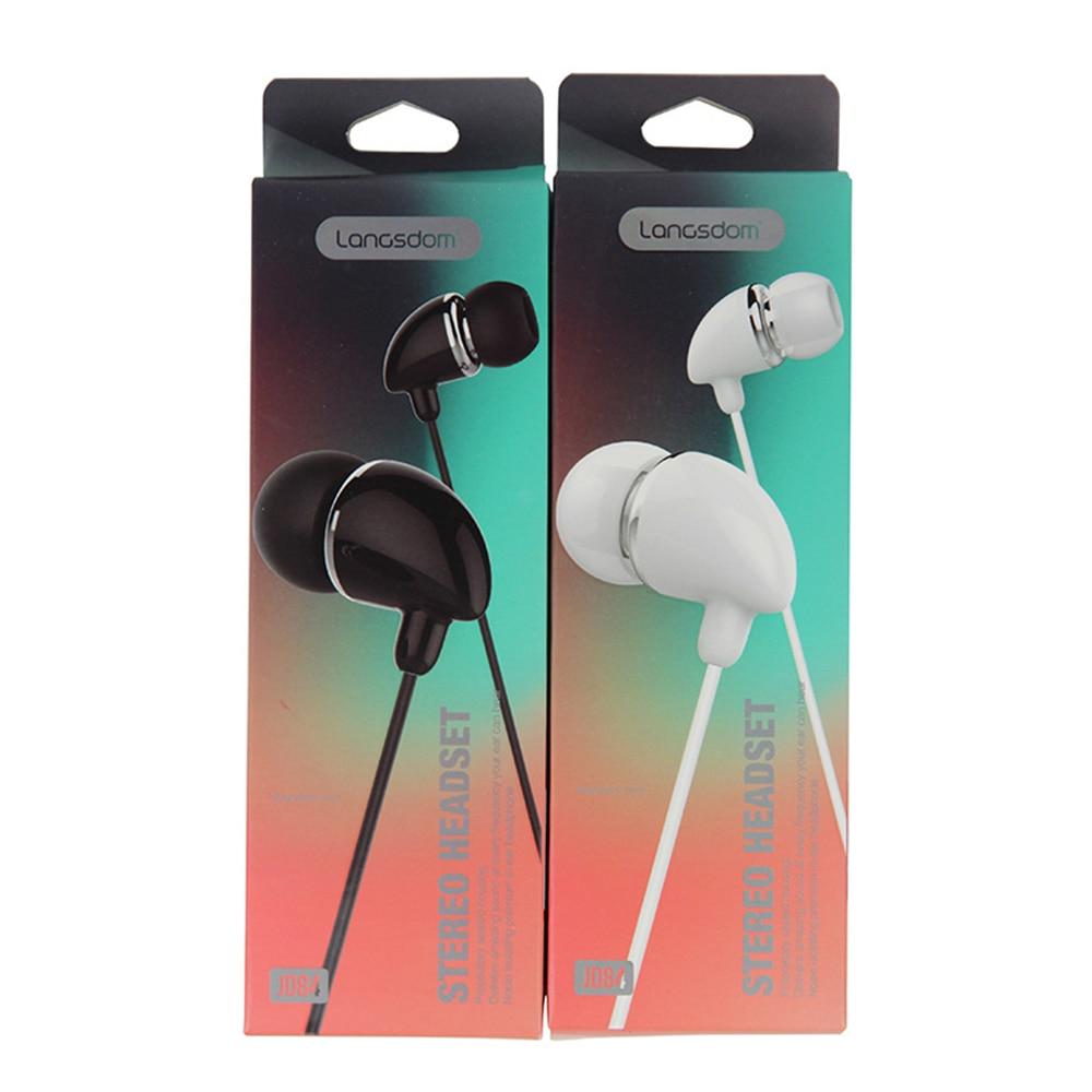 Original  JD84 earphones with Microphone Super Bass Earphone Headset For iphone 8  xiaomi earphone smartphone
