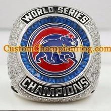 2016 Chicago Cubs Baseball World Series Championship Anillos Para El Jugador ZOBRIST Anillo Fan, Envío de la gota Anillos de Alta Calidad