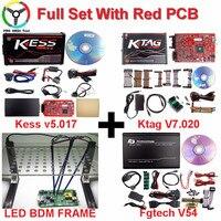 2018 Mais Votados V5.017 Kess Kess V2 Mestre Online Vermelho UE V5.017 V7.020 Ilimitadas Ktag Ktag Kess ECU Tuning Chip Programador ECU
