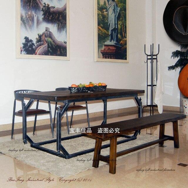 Europeo Comedor Retro De Madera Muebles Residencial Combinacion De - Muebles-de-bao-minimalistas