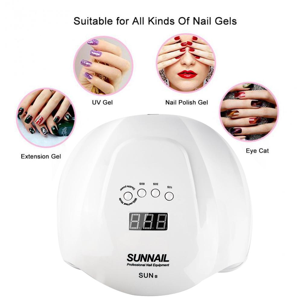 54W Dual Light Professional Nail Lamp Nail Curing Dryer Light with <font><b>36</b></font> Led Auto-sensing Timer Setting 10/<font><b>30</b></font>/60/99S image