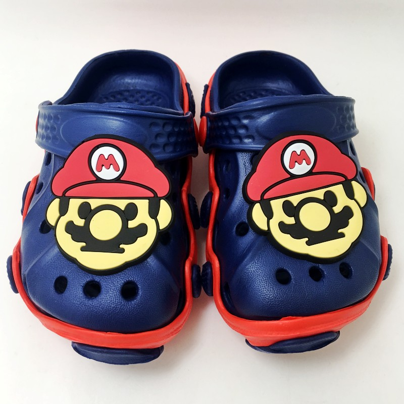 678590bed81e2f Children Boys Beach Sandals Clogs Kids Summer EVA Slip On Garden Shoes  Japan Cartoon Super Mario Pikachu Pokemon