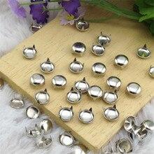 Розничная 500 шт./лот 5 мм серебряные круглые шпильки металлические гвоздики панк зубчатые Шипы DIY Одежда для заклепок аксессуары /