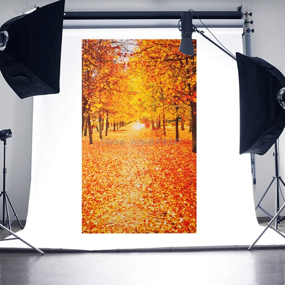 Photography Backdrops Photo Prop Studio Vinyl 3x5ft Maple Leaf Trees Background #R179T#Drop Shipping 300cm 300cm vinyl custom photography backdrops prop digital photo studio background s 4748