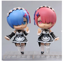 Re:Life in a different world from zero Model Decoration 10cm Rem And Lahm Cute Action Figures