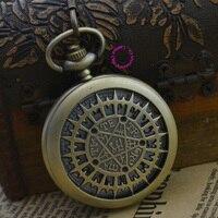 Fashion Quartz Man Astronomy Pocket Watch Necklace Classic Men Fob Watches Ancient Vintage Antique Bronze Classic Retro Arabic