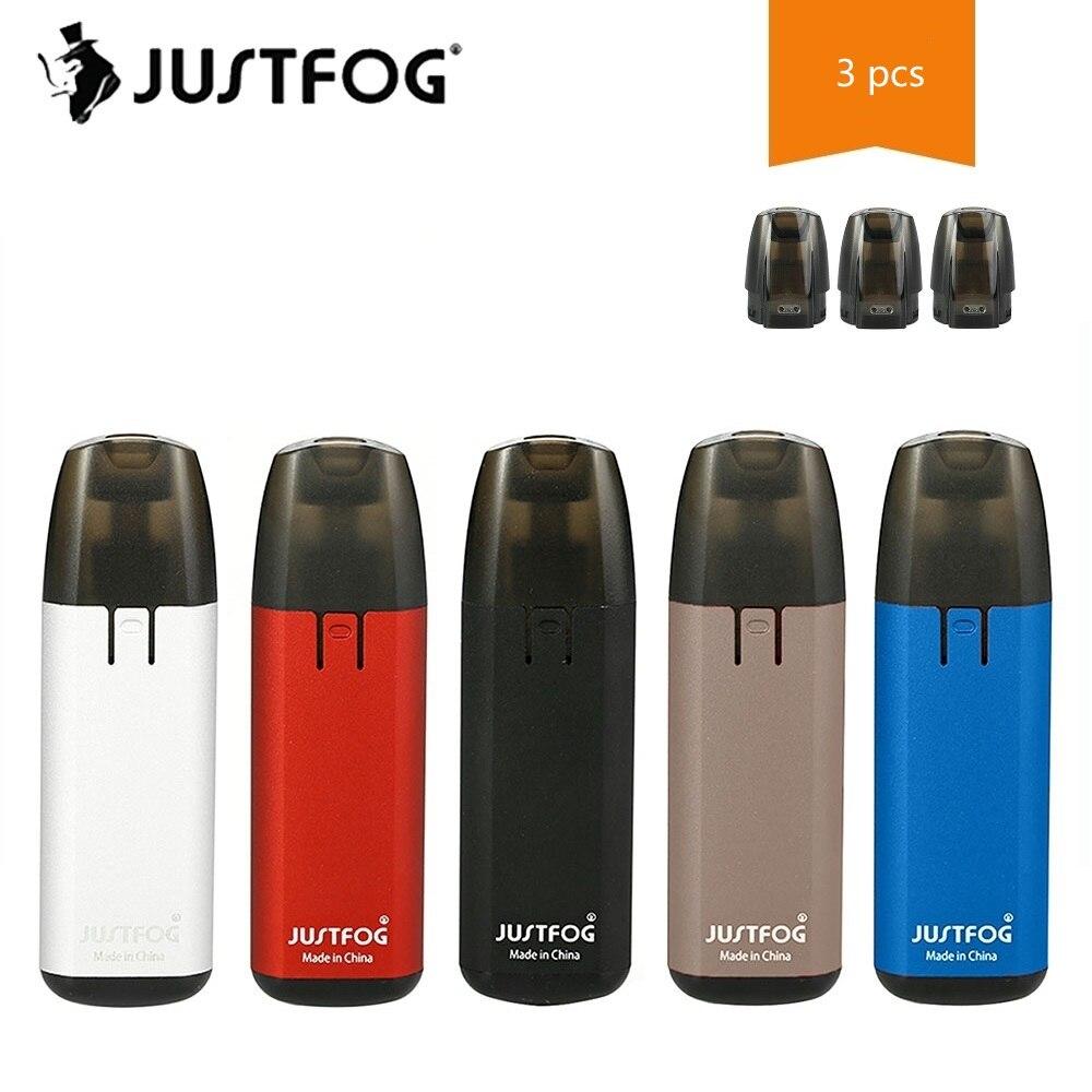 Nouveau Kit de Démarrage JUSTFOG MINIFIT Starter Kit avec 370 mah Batterie et 1.5 ml Rechargeable Cartouche E-cig Vaporisateur kit Vs Ego Aio/Ijust S