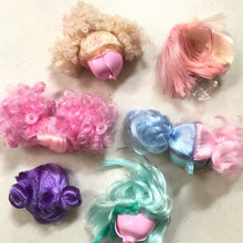 5PCS/LOT LOL Accessories 8CM Mini Doll Hair Wigs  DIY Wig for Dolls Sisters