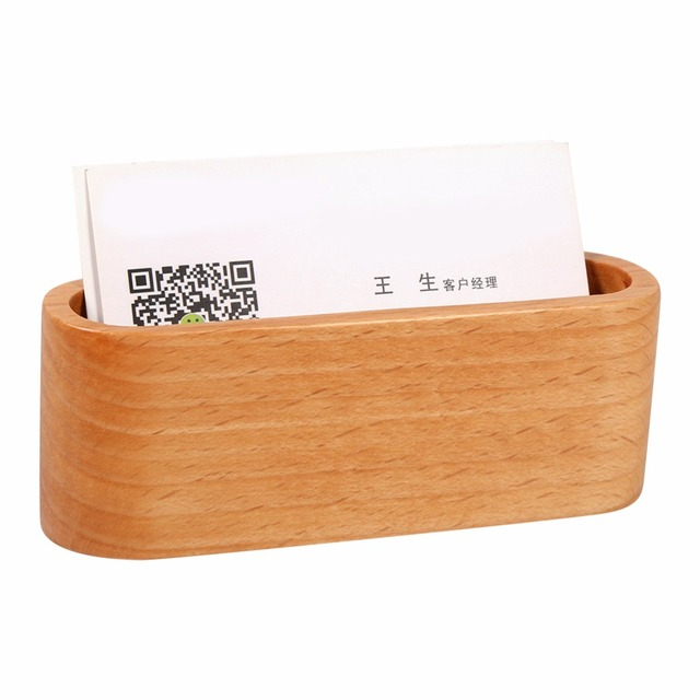 Business Accessories & Gadgets Laptop Desk Accessories Wooden Business Card Holder