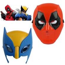Marvel film Deadpool costume masque cosplay pour kids2016 New X – man Deadpool Wolverine lumière masque du spectacle accessoires d'halloween cadeau