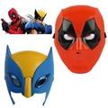 Marvel Película Deadpool máscara de disfraces cosplay para kids2016 Nueva x-man Wolverine deadpool Luz Máscara Regalo de Halloween Realizar apoyos
