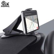 IKSNAIL Автомобильный держатель для телефона с gps HUD универсальная подставка для телефона с крокодиловым креплением на приборную панель кронштейн для безопасного вождения