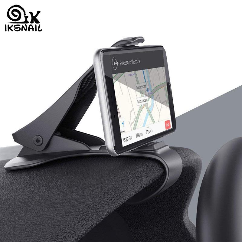 IKSNAIL Car Phone GPS Holder HUD GPS Phone Universal Cradle Crocodile Dashboard Mount Clip navigation Bracket