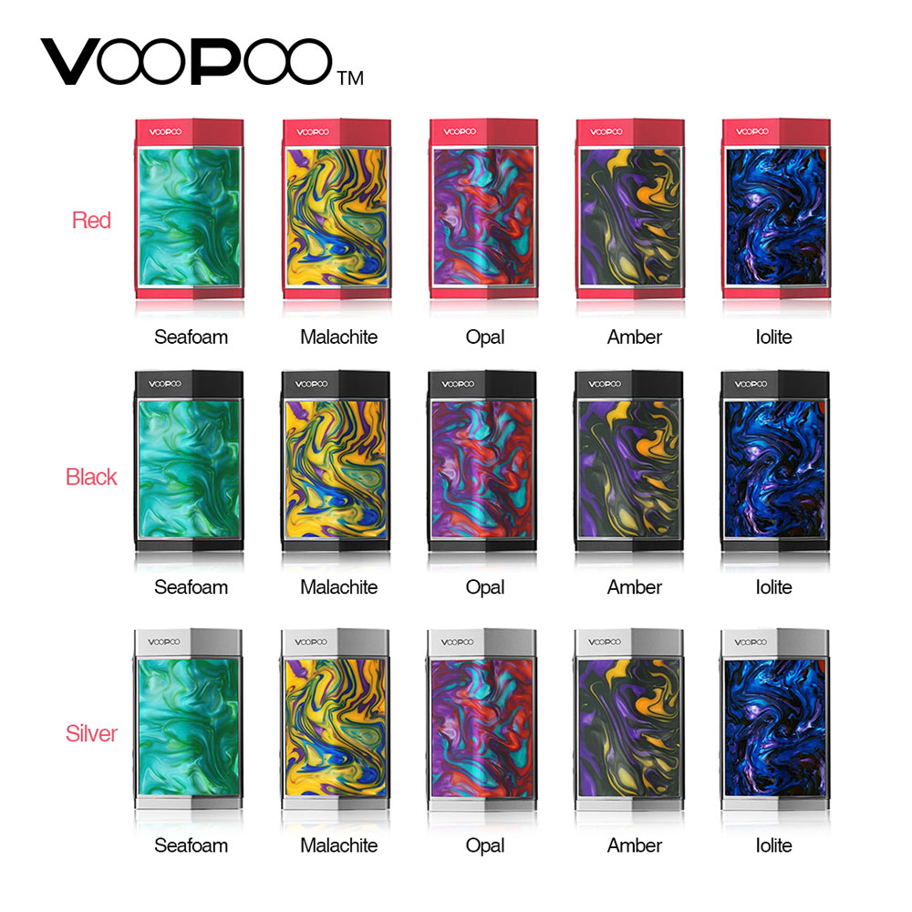 Original VOOPOO TOO Resin 180W TC Box MOD Latest GENE.FAN Chip & All-new Resin Panels & Latest GENE.FAN Chip No 18650 Battery