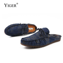 YIGER Men loafers sandals new man Trendy peas shoes mens lazy slippers slip-on male slipper fashion  282