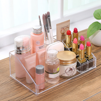 New 6 Grids Acrylic Makeup Organizer Lipstick Cosmetic Box Storage Box Jewelry Box Case Holder Display Stand Make Up Organizer 24 grids lipstick holder makeup lipstick display stand storage rack makeup organizer acrylic storage box