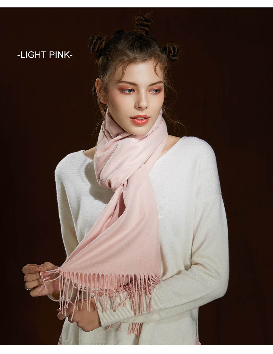 Winter Large Tassel Scarf 180cm65cm 23 Colors Wool Knitted Scarves 2019 Autumn 100% Cashmere Long Solid Scarf Women Warm Shawl (18)