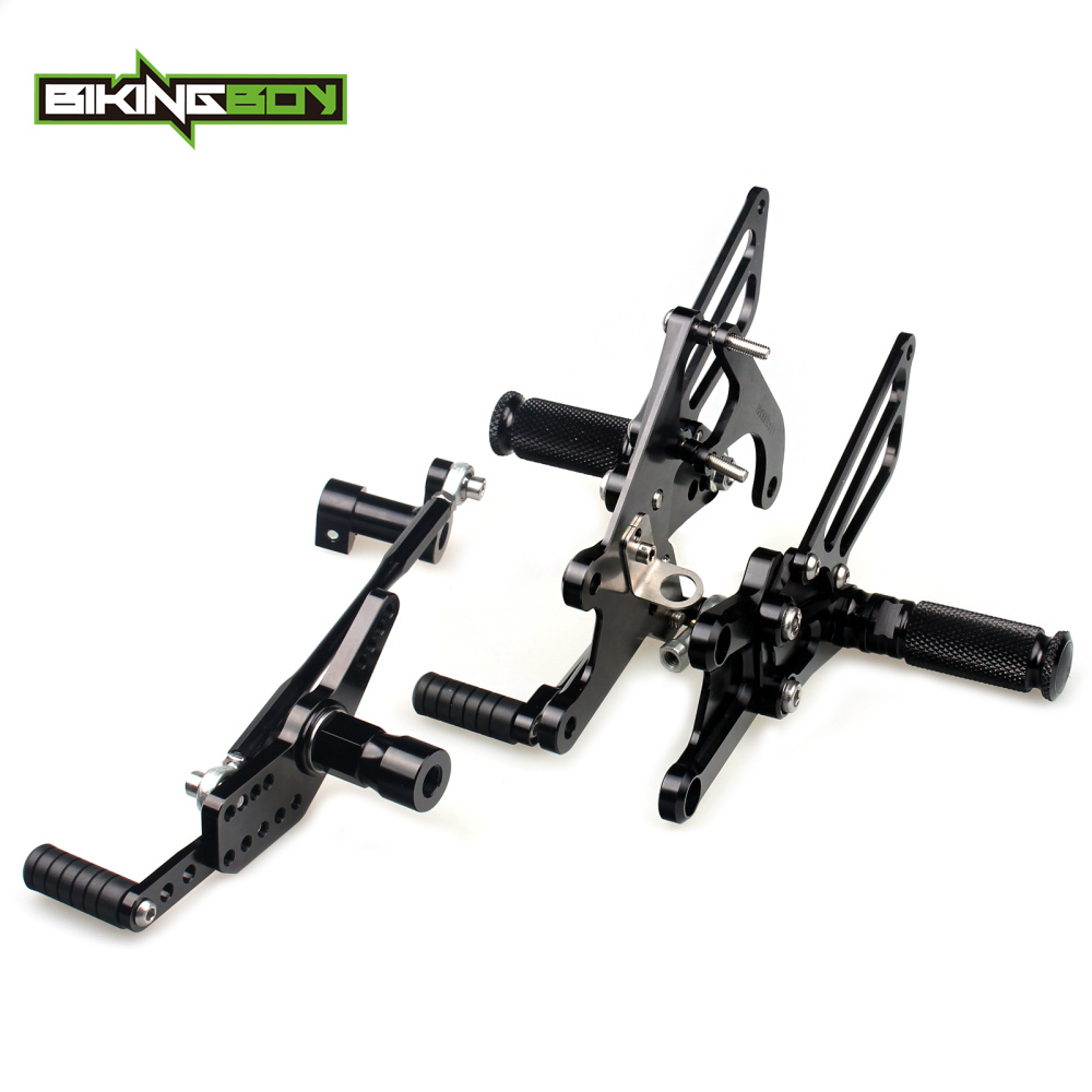 BIKINGBOY Adjustable Rearsets Rear Sets Footpegs Footrests For HONDA CBR 1000 RR Fireblade ABS 2009 2010