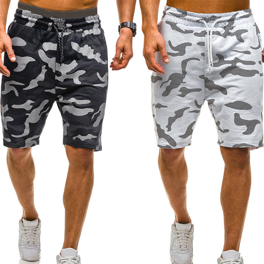Laamei 2019 Camouflage Casual Male Military Cargo Shorts Knee Length Mens Summer