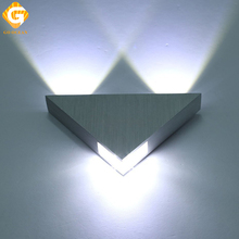 LED Wall Lamp 3W Triangle Spotlight Ceiling lights Modern Home Indoor and Outdoor Decoration up down wall lighting