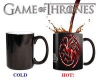 משחקי כס Targaryen אדום סימן ספלי שינוי צבע כוסות קרמיקה תה La Copa רגיש מתנת חברים