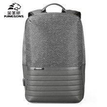 Kingsons Mini Backpack Men Women Anti Theft Bagpack 13.3 15.6 Inches Laptop Back Pack Casual USB Charging Travel Sports Rucksack