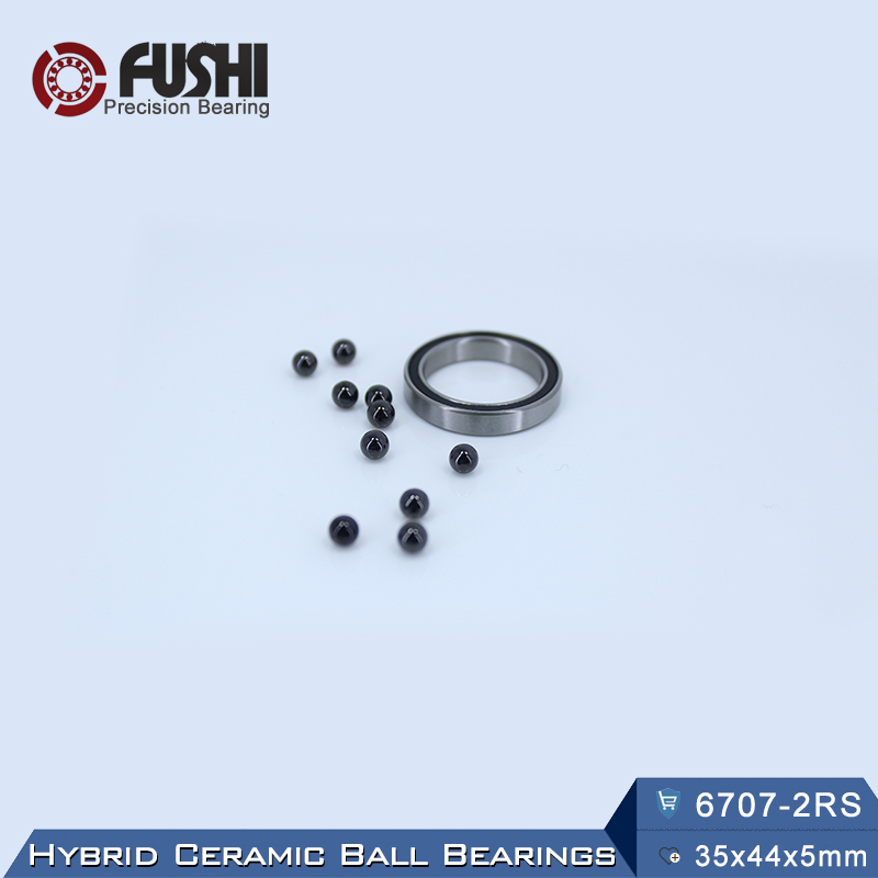 6707 Hybrid Ceramic Bearing 35*44*5 mm ABEC-1 ( 1 PC) Industry Motor Spindle 6707HC Hybrids Si3N4 Ball Bearings 3NC <font><b>6707RS</b></font> image