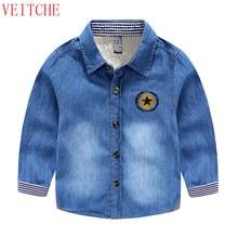 Boys Denim long sleeve Kids thicken wool winter warm shirts chemise chemise garcon de marque camisas