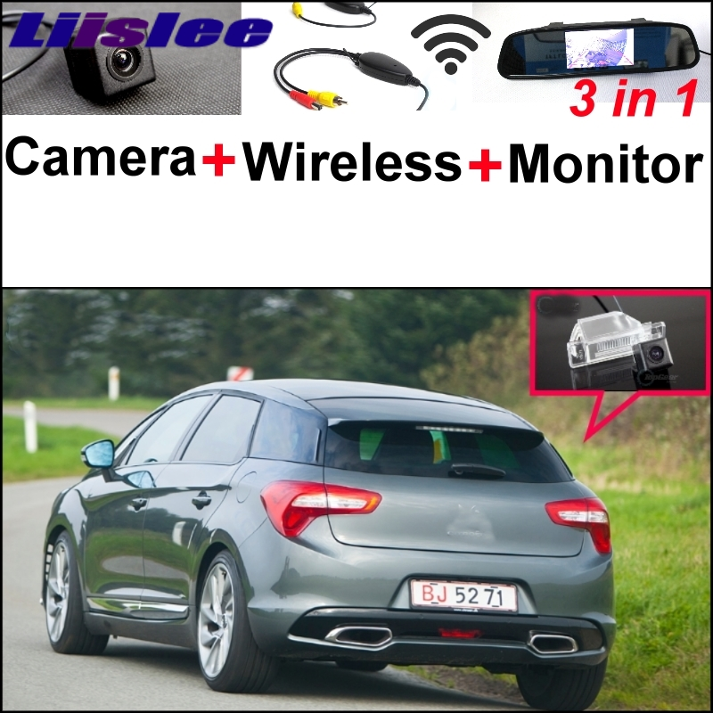 Liislee 3 in1 Special Rear View Camera + Wireless Receiver + Mirror Monitor Easy Parking System For Citroen DS5 DS 5 2011~2015