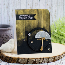 Raining&Umbrella Clear Silicone Stamp DIY Scrapbooking Card Album Making Background Craft Handmade Decoration Template