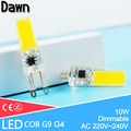 Top Quality G4 G9 Dimmable LED G9 Lamp COB 10W 220V LED Corn Light Replace 50w Halogen Lamp Led Light Crystal Chandelier Lampada
