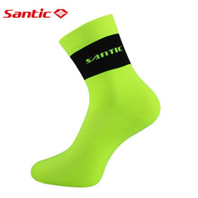 Santic Cycling Socks Men Women Breathable Bike Bicycle Socks Anti-sweat Outdoor Sports Ciclismo 3 Colors Free Size KW6501