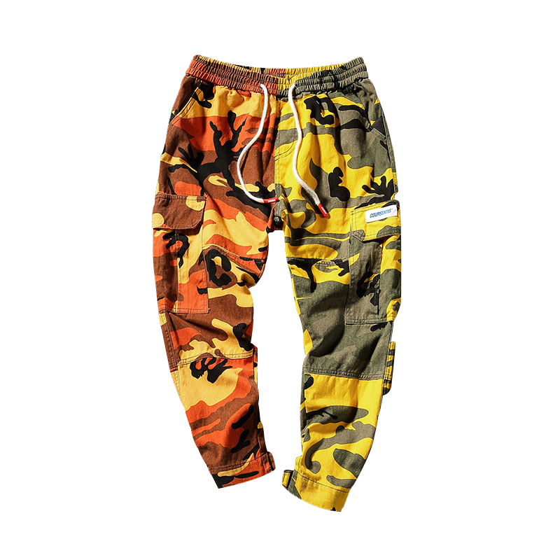 2018 Summer Large Size Men's Clothing Korean Style Fashion Camouflage Harem Pants Ankle-length Pants Men's, A161, Plus Size