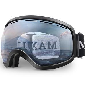 Image 1 - Kayak gözlüğü, kış kar sporları anti sis ile çift Lens kayak maskesi gözlük kayak erkek kadın kar gözlüğü M3