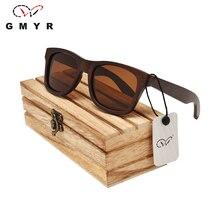 13 Colores Real de la Parte Superior de Los Hombres gafas de Sol de Madera Árbol Marco Mens Cuadrados de Bosque De Madera gafas de Sol Polarizadas Gafas Gafas De Sol De Madera