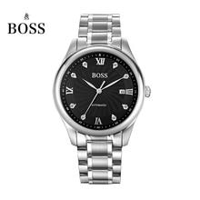 БОСС Германии часы мужчины люксовый бренд автоматические механические часы мужские из нержавеющей стали подлинной алмазов Ретро образом sehen