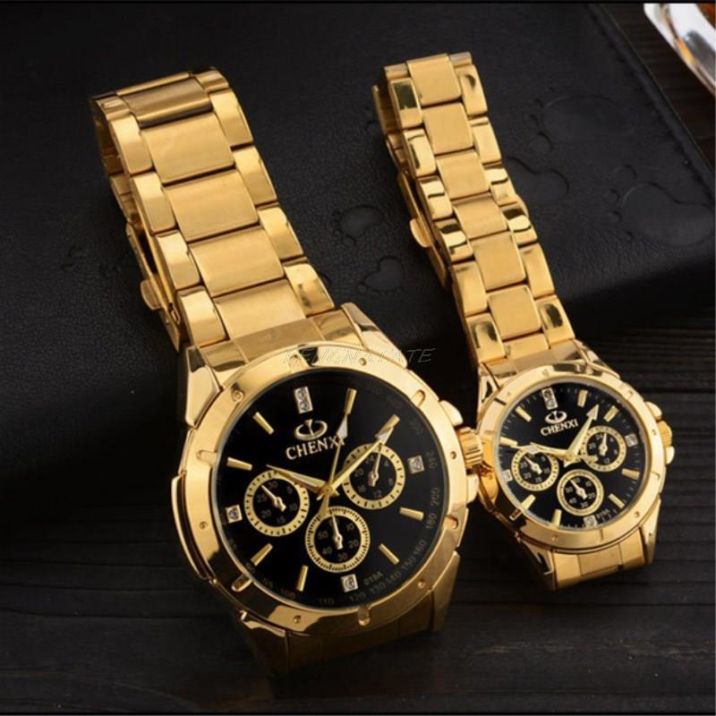 Reloj dorado Nuevo Reloj de oro para hombres Relojes de cuarzo de - Relojes para hombres - foto 5