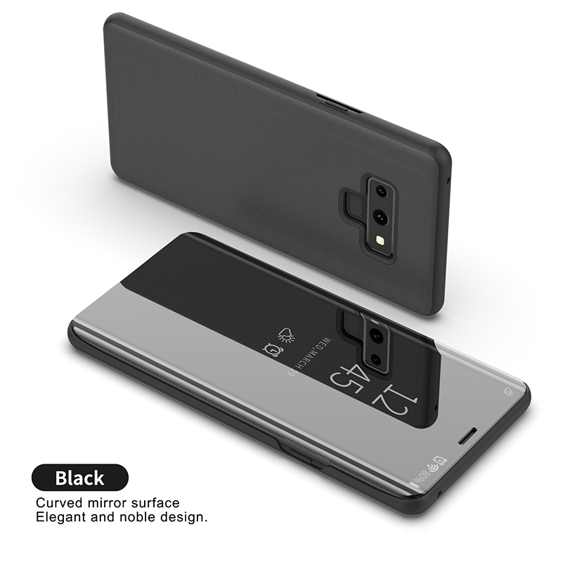 KEFO Luxury Clear View Mirror Smart Case For Samsung Galaxy Note 9 Flip Stand Case For Samsung Galaxy Note9 Note9 Cover Coque    (5)