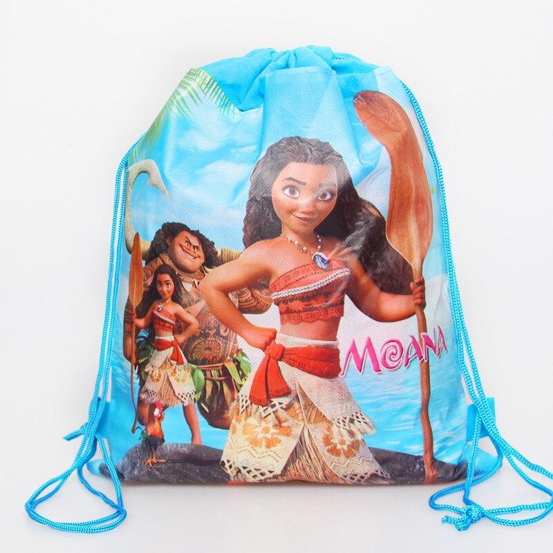 1pcs/lot Moana Non-woven Bag Fabric Backpack Child Travel School Bag Decoration Drawstring Gift Bag Shopping Bag