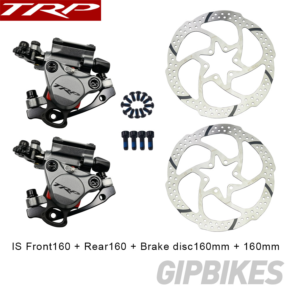 TRP HY/RD Post Mount Cable Actuated Hydraulic Disc Brake Caliper 160mm w/ or w/o Rotor Front / Rear / Set HYRD ROAD grayTRP HY/RD Post Mount Cable Actuated Hydraulic Disc Brake Caliper 160mm w/ or w/o Rotor Front / Rear / Set HYRD ROAD gray