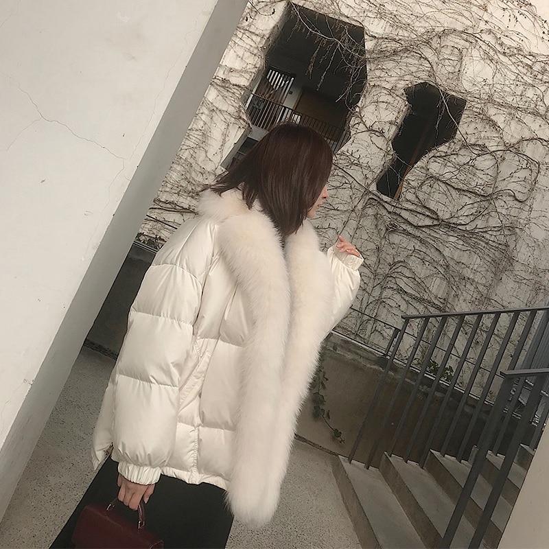 Mode Parka Chaud Le 2018 Taille Longue Dames Épaississement Slim Femelle D'hiver De Plus See La Femmes Chart Col Vêtements Fourrure Manteau Grand Bas Veste Vers EH2DIYW9