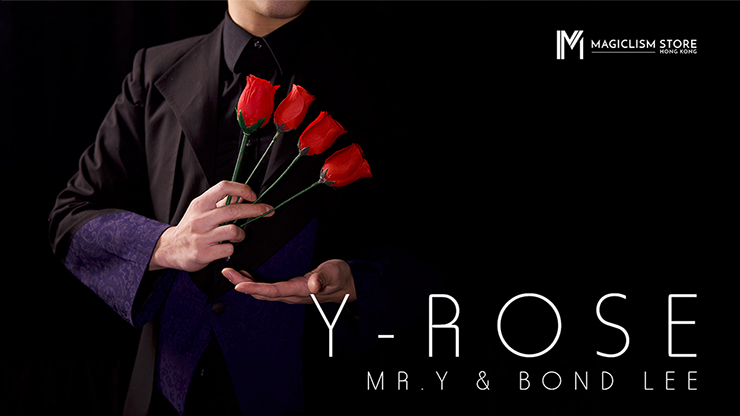 Y-Rose By Mr. Y & Bond Lee,One Rose Change To Four Roses,Fire Magie,Illusions,Close Up Magic,Street Magic Tricks Magic Props