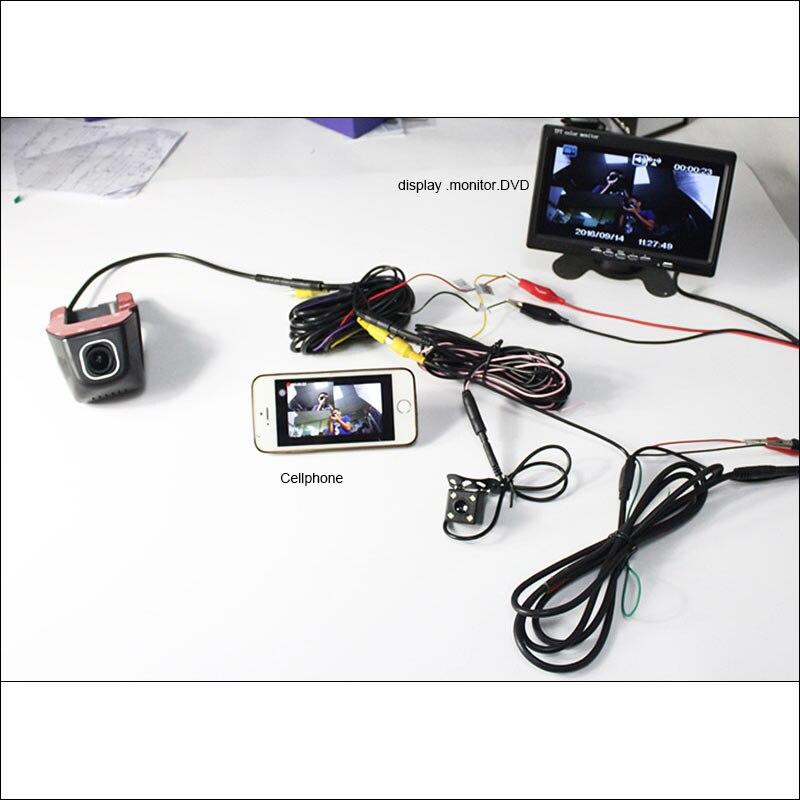 BigBigRoad For vw Multivan t5 Car Wifi DVR Dual Camera Video Registrator WDR Car Parking Camera Car Black Box night vision 12v parking rgb reversing video camera for vw tiguan a4 a6 q5 rns510 rcd510 5nd 827 566 c 5n0 827 566c 5nd827566c