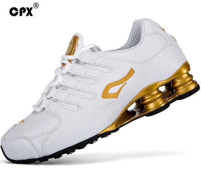 299a55363 Original CPX Hombres Shox Tecnología Caminar Zapatos Cocodrilo Cuero  zapatillas de deporte zapatillas deportivas hombre atlético